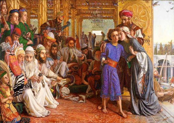 Hunt, William Holman: The Finding of the Saviour in the Temple. Fine Art Print/Poster. Sizes: A4/A3/A2/A1 (002666)